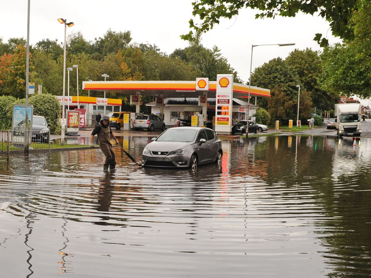 Flooding is a common sight at Sandon Road in Stafford
