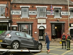 Car smashes through wall of popular Netherton pub - PICTURES