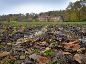 The state of grounds of Himley Park after fireworks