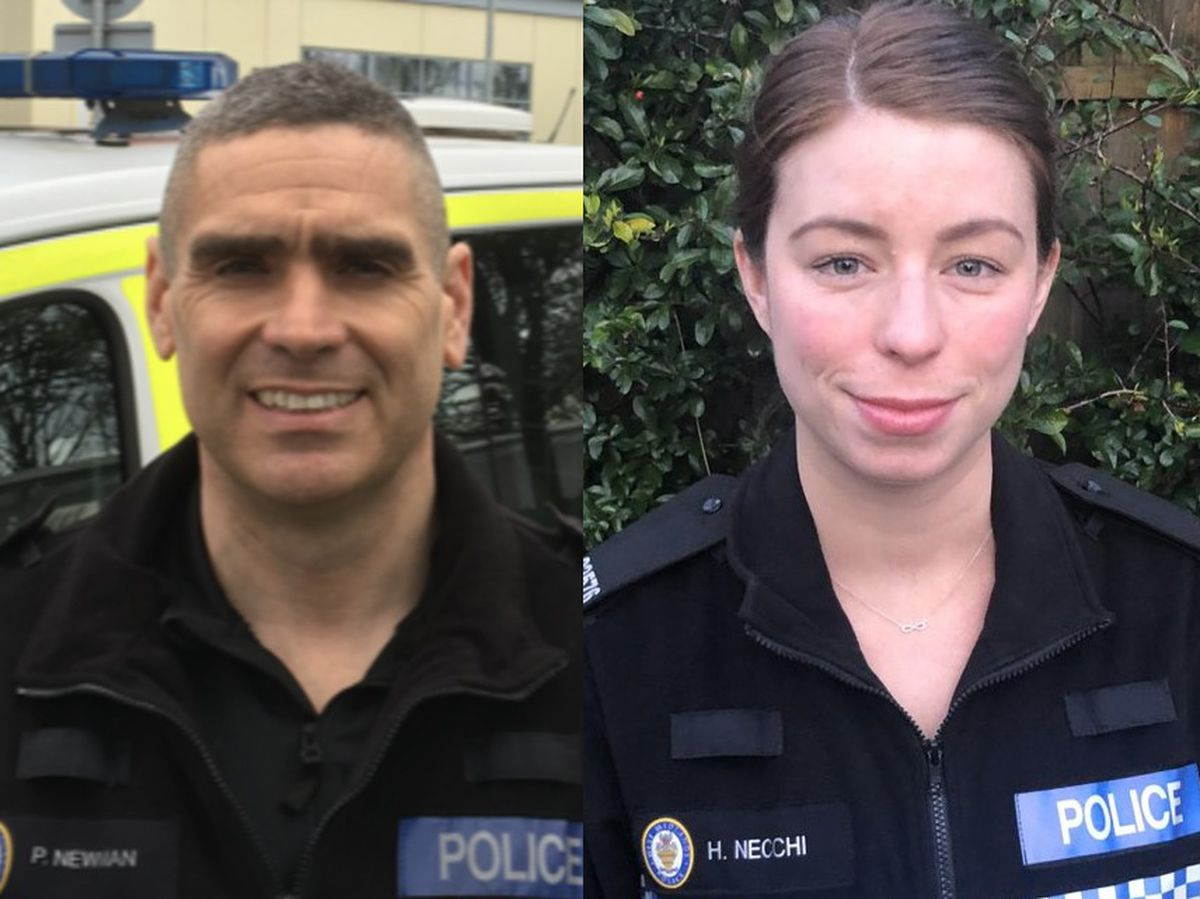 Pcs Paul Newman and Holly Necchi. Photo: West Midlands Police