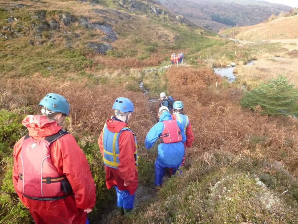 Students on a trek at Towers. Image: Coppice Performing Arts School