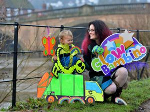 DUDLEY COPYRIGHT EXPRESS AND STAR STEVE LEATH 27/01/2021..Pic in Bewdley of Sara Hemmings and son: Bracken Hemmings 2. Story on her business: Glow Bambino getting an award..