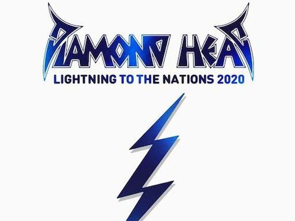 The cover for Diamond Head's Lightning To The Nations 2020