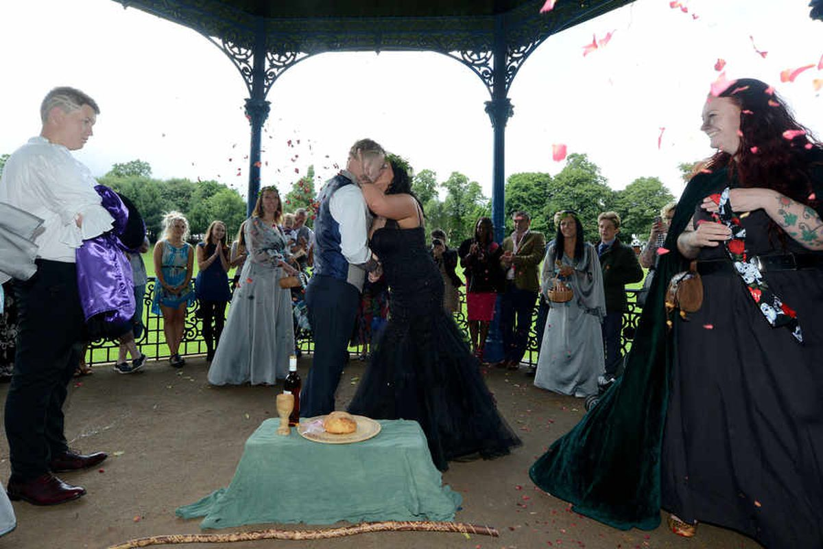 Pagan wedding takes place in Black Country park