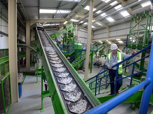 LAST ALAN FOGARASY COPYRIGHT EXPRESS & STAR 02/05/18 NOT ALLOWED VIDEO. STORY WITH MARK ANDREWS.  Feature on the ao recycling plant in Halesfield who recycle and resell fridges and other white goods. Anthony Sant with the end product coming out of Big Bertha