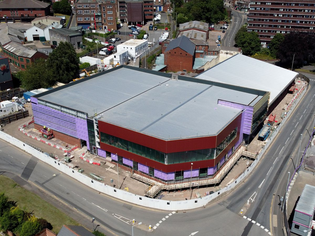 The new leisure centre taking shape in Dudley