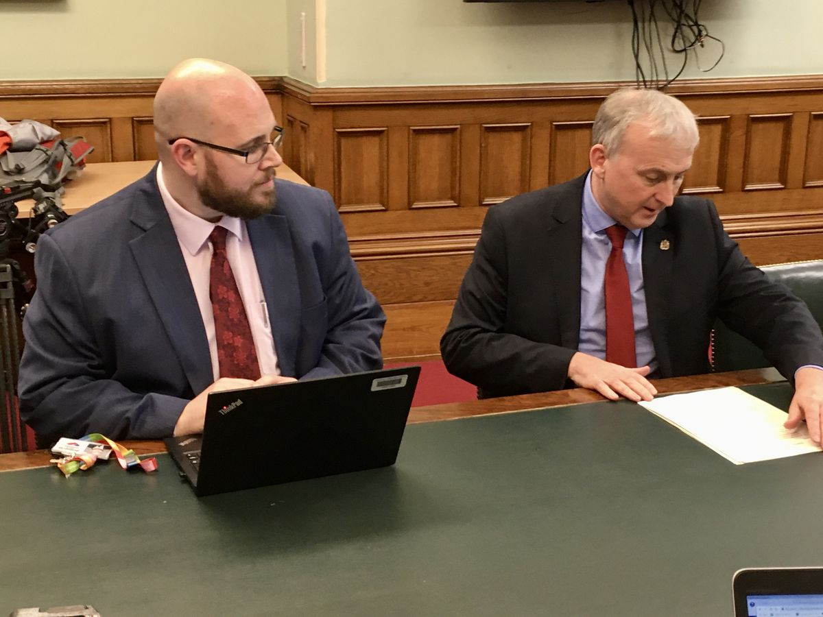 Dr Justin Varney, director of public health, and Birmingham City Council leader Ian Ward