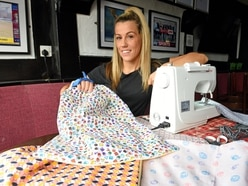 Help on tap at Dudley pub as landlady Lisa sews wash bags for frontline workers