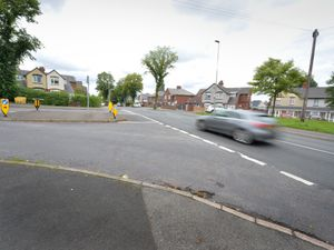 The mother and children were hit at a bus stop on Thimblemill Road