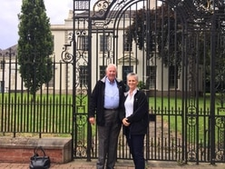 Couple handed keys to the White House... in Cannock