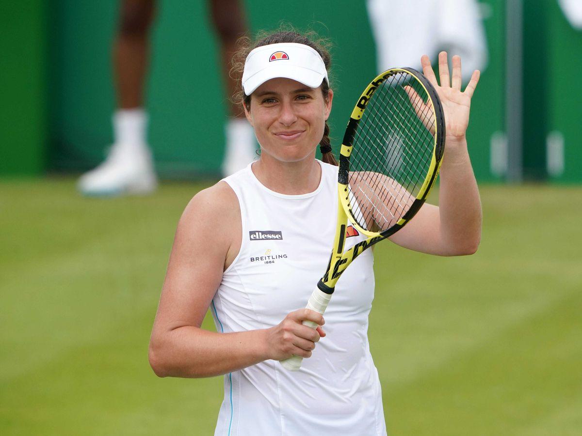 Johanna Konta is through to the Nottingham Open quarter-final