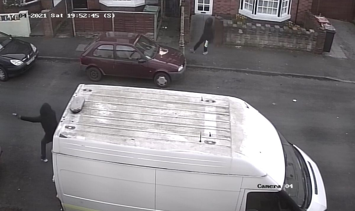 A screenshot of the CCTV of the shooting in Whitmore Reans