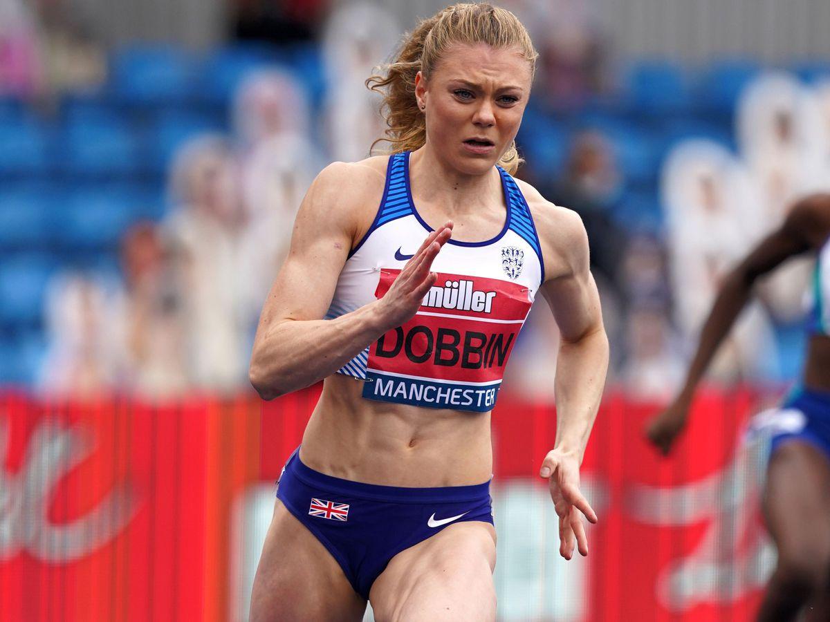 Beth Dobbin runs in the 200m for Team GB