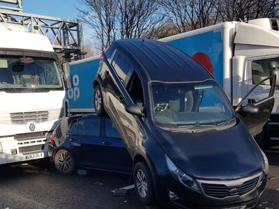 Drivers suffer day of misery as seven-vehicle crash leads to two hour delays on the M6