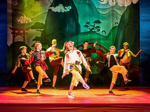 The cast of a previous pantomime, Aladdin, in 2019. Picture: Nigel Gambles
