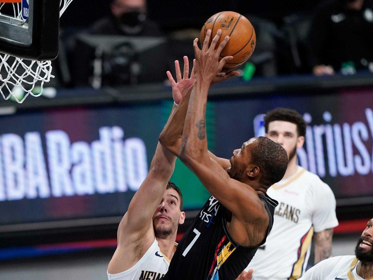 Brooklyn Nets' Kevin Durant shoots