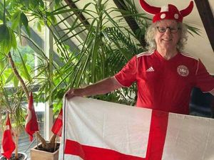 Split loyalties – Don Powell posted a picture displaying his loyalty to both countries