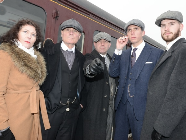 A blinder of a day out for Peaky fans in Chasewater Railway visit