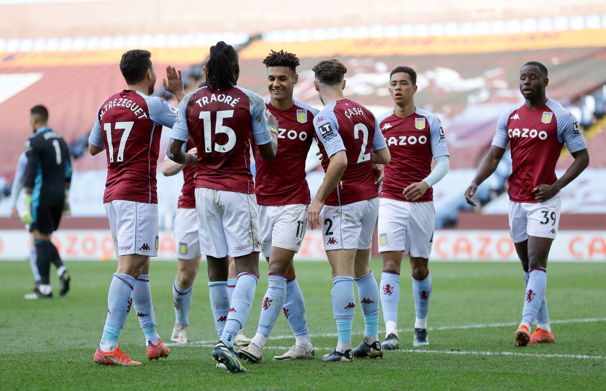 Aston Villa's Ollie Watkins celebrates