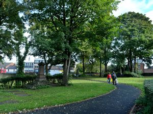 DUDLEY  COPYRIGHT TIM STURGESS EXPRESS AND STAR...... 06/10/2020...  Park which has been spruced up thanks to £5,000 fund from Dudley Council. Located in between Vicar Street and Ladies Walk Clinic/Asda in Sedgley. New paved footpath and hedges/plants trimmed. ..