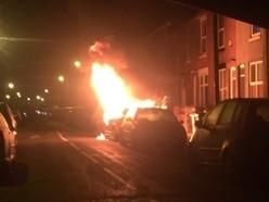 WATCH: Car bursts into flames in Wolverhampton street