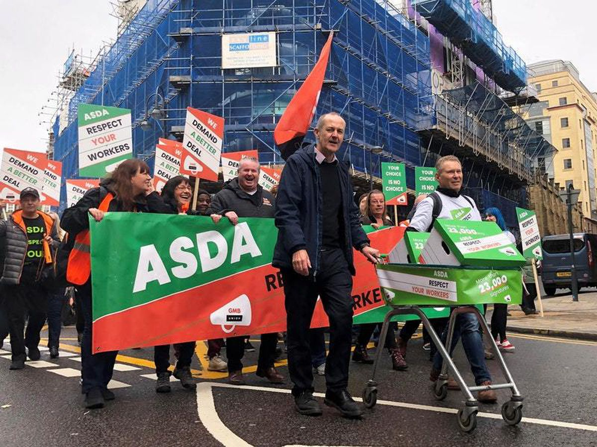 Asda workers' protest