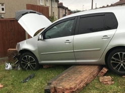 Driver disappears as car smashes into Dudley wall