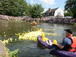 Ducking and diving in Brierley Hill for charity canal race - with video
