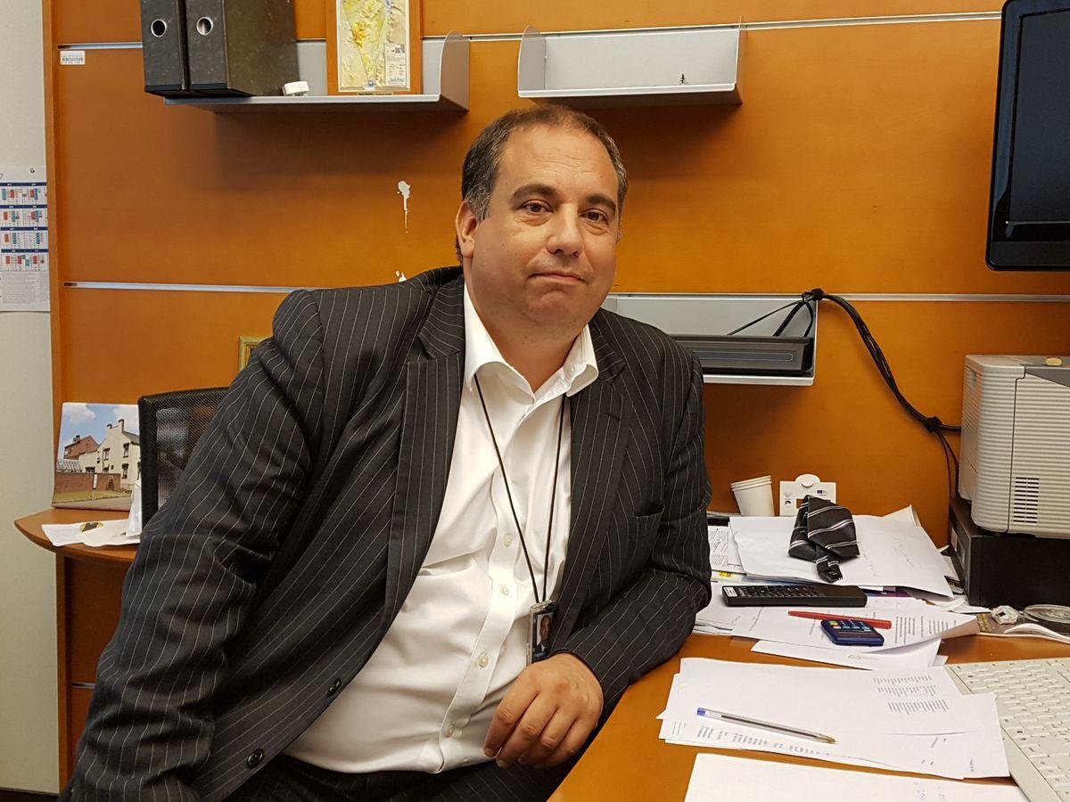 Bill Etheridge in his office in Brussels