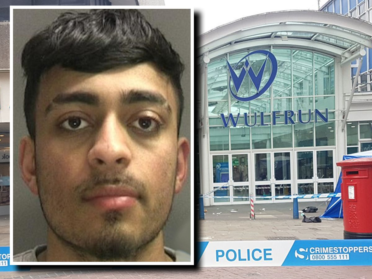 Daniel Iftikhar, inset, attacked a boy with a hammer outside the Wulfrun Centre