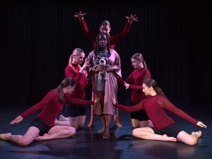 Dance students during their performance