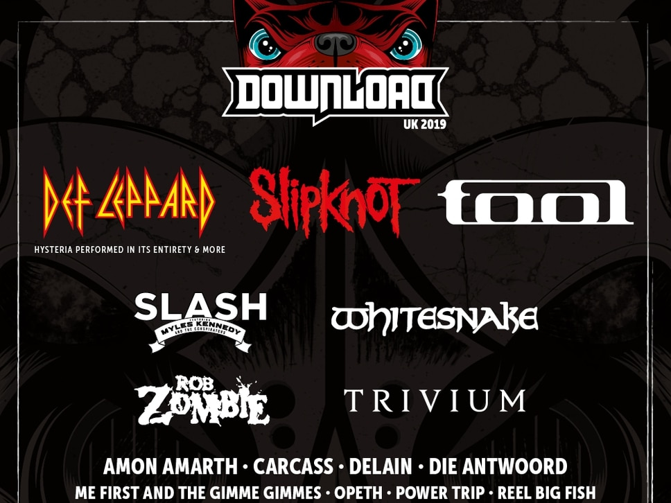 Download Festival 2019: Def Leppard, Slipknot and Tool announced as headline acts