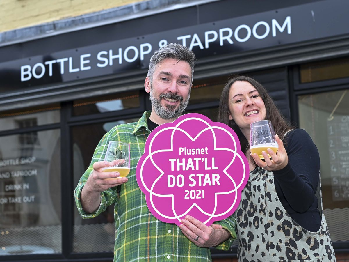 Haul Beer's co-founders Paul and Hannah Tunnicli have been recognosed as lockdown heroes by Plusnet