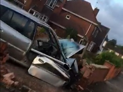 Man critically injured after car ploughed into garden wall