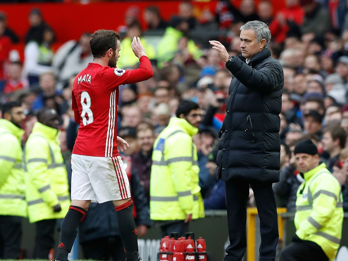 Juan Mata (left) was sold by Jose Mourinho at Chelsea but played for him again at Manchester United