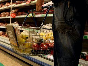 Man with shopping basket