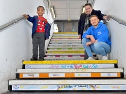 Rail station steps up to inspire public