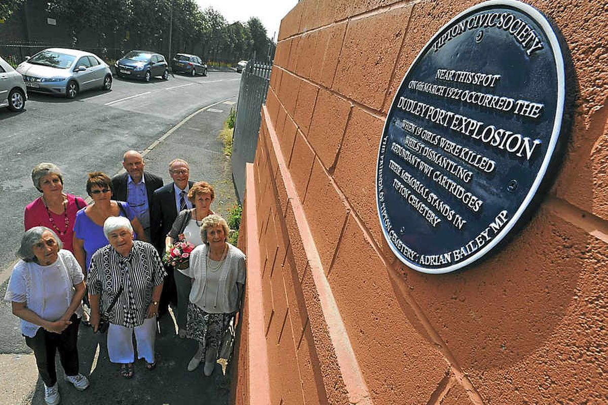 Needless loss of life marked with Tipton plaque