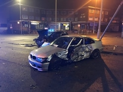 Man cut free after two-car crash in Lye