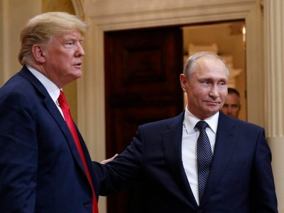 Donald Trump brands reporting of Vladimir Putin summit 'fake news going crazy'