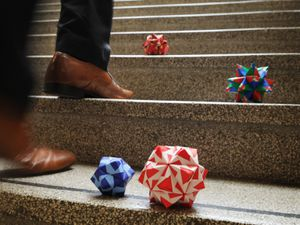 Mystery origami has been left at the University of Wolverhampton