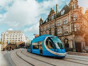 The Midland Metro is extending through Birmingham