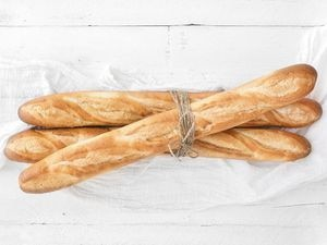 Freshly baked baguettes - delicious!