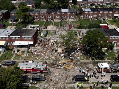 Baltimore natural gas explosion destroys several houses