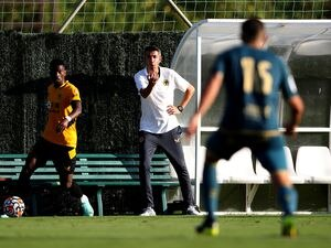 SAN PEDRO DE ALCANTARA, SPAIN - JULY 26: Bruno Lage, Manager of Wolverhampton Wanderers gives his team instructions during a Pre-Season Friendly match between Las Palmas and Wolverhampton Wanderers at Marbella Football Center on July 26, 2021 in San Pedro De Alcantara, Spain. (Photo by Jack Thomas - WWFC/Wolves via Getty Images).