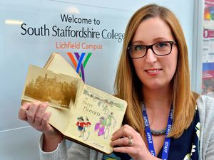 Claire Pinder-Smith of South Staffordshire College, with the album