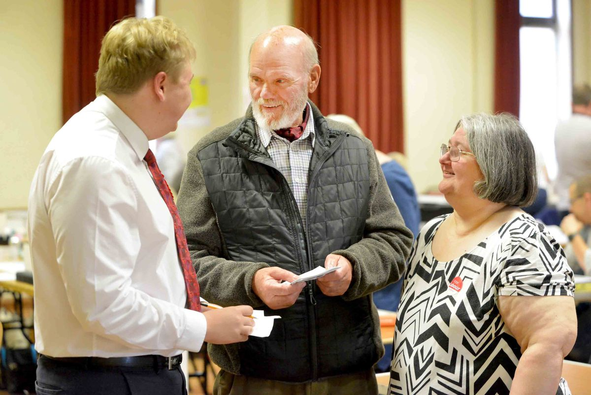 Ryan Tipton, Gordon Alcott and Diane Todd from Labour