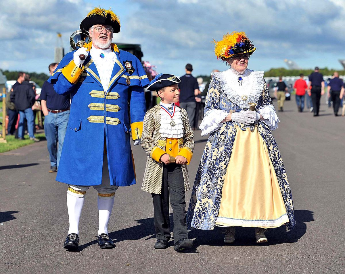 Newport town crier Peter Taunton and his deputy Lee Storey proclaimed the Diamond Jubilee in 2012