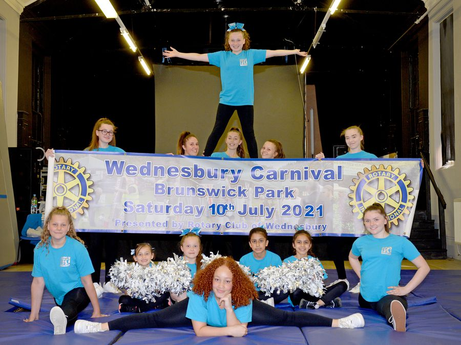 SANDWELL COPYRIGHT MNA MEDIA TIM THURSFIELD 01/07/21 .Members of Kickstarts Dance Group, Wednesbury, look forward to performing at Wednesbury Carnival on 10th July..