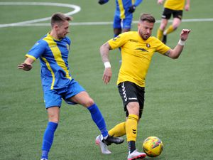 SPORT COPYRIGHT EXPRESS&STAR TIM THURSFIELD-26/09/20.Rushall Olympic v Peterborough Sports.Former Wolves player Michael Kightly makes his home debut for Rushall..